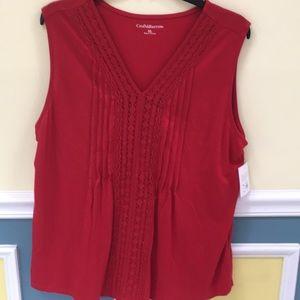 Brand new Red sleeveless shirt